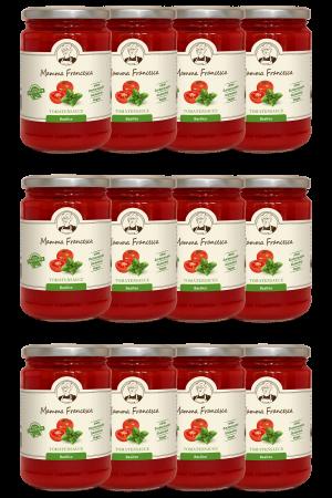 12-er Paket Tomatensauce Basilico 340 g