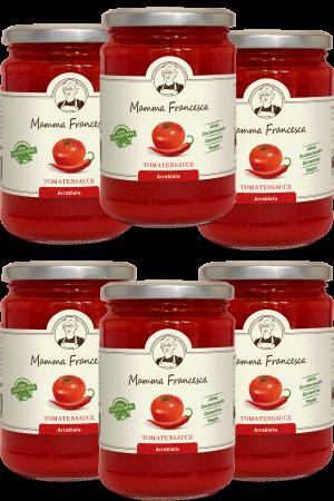 6-er Paket Tomatensauce Arrabiata 340 g